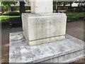 TQ3370 : Base of Upper Norwood War memorial, Westow Street, Upper Norwood, London by Robin Stott