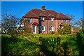 ST0905 : East Devon : Northill Cottages by Lewis Clarke