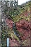 SX9574 : A small waterfall by N Chadwick