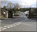 SJ3156 : West side of Wrexham Road railway bridge, Cefn-y-Bedd, Flintshire by Jaggery