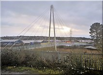 SX8671 : Footbridge, River Teign by N Chadwick