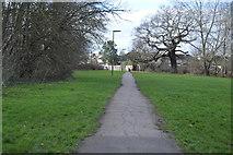 TQ2163 : Footpath near Hogsmill River by N Chadwick