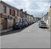 ST1599 : West up West Street, Bargoed by Jaggery