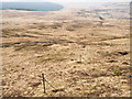 NM5122 : Fence post line descending towards Cnoc a' Bhràghad by Trevor Littlewood