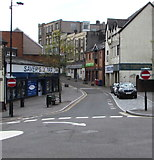 ST1599 : No Entry signs at the northern end of High Street, Bargoed by Jaggery