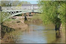 SO8352 : Powick Bridge, old and new by Philip Halling
