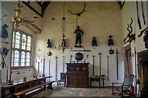 SX4268 : Cornwall : Cotehele House - Great Hall by Lewis Clarke