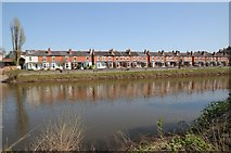 SO8454 : Houses on Diglis Avenue by Philip Halling