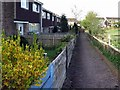 NZ1165 : Footpath behind houses on Dene Road, Wylam by Andrew Curtis