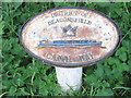 """TQ0584 : """"District of Beaconsfield - Canal Way"""" sign at boundary by David Hawgood"""