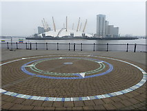TQ3880 : The O2 seen across the River Thames by Marathon