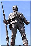 NS3321 : Statue, War Memorial Ayr by Billy McCrorie