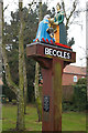 TM4291 : Town sign, Beccles by Christopher Hilton