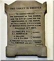 SJ9398 : Centenary Commemorative Tablet by Gerald England