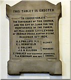 SJ9398 : Centenary Commemorative Tablet by Gerald England