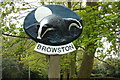 TG4901 : Browston Village Sign by Adrian Cable