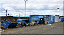 NS5564 : Waste skips at Ibrox Stadium by Thomas Nugent