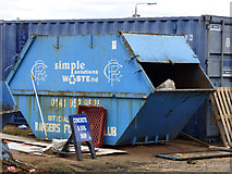 NS5564 : Waste skip at Ibrox Stadium by Thomas Nugent
