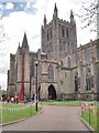 SO5039 : Hereford Cathedral and the Weeping Window by Philip Halling