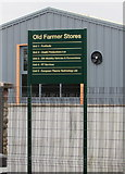 SO6302 : Old Farmer Stores name sign, Church Road, Lydney by Jaggery