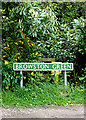 TG4901 : Browston Green sign by Adrian Cable