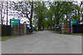 TG4900 : Entrance to Lound Water Treatment Works by Adrian Cable