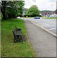 ST2489 : Bench alongside Newport Road, Pontymister by Jaggery