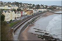 SX9676 : South Devon Railway Sea Wall by N Chadwick