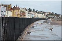 SX9676 : South West Coast Path, South Devon Railway Seawall by N Chadwick
