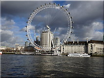TQ3079 : London Eye from the river by Rudi Winter