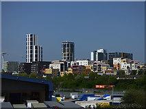 TQ3979 : North Greenwich riverside developments by Stephen Craven