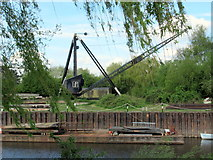 SO8453 : Crane by the River Severn Diglis Worcester by Roy Hughes