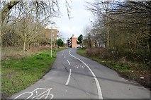 TQ2066 : Cycle path near the Hogsmill River by N Chadwick