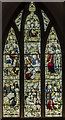 SP8699 : Stained glass window,  Ss Peter & Paul church, Uppingham by Julian P Guffogg