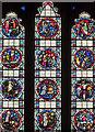 SP8699 : Stained glass window,  Ss Peter & Paul church, Uppingham by Julian P Guffogg