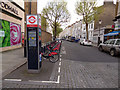 TQ2578 : Santander docking station, Penywern Road, Earls Court by Stephen Craven