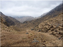 NM9199 : Stalkers' path on the north side of Lochan nam Breac by Richard Law