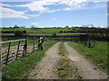 NZ0617 : Entrance to a sewage works off Town Pasture Lane by Jonathan Thacker