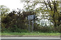 TM2241 : Roadsign on the A1156 Felixstowe Road by Adrian Cable