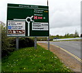 SM9515 : Dark green directions sign on the approach to Bridge Square roundabout, Haverfordwest by Jaggery