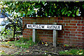 TM2649 : Wilmslow Avenue sign by Adrian Cable