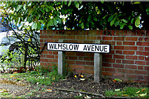 TM2649 : Wilmslow Avenue sign by Geographer