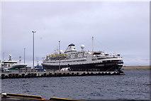 HU4642 : MV Astoria at Mairs Pier, Holmsgarth, Lerwick by Mike Pennington