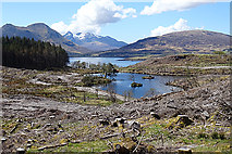 NG5536 : Loch a' Mhuilinn by Anne Burgess