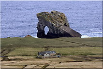 HT9541 : Ristie and Gaadie Stack, Foula by Mike Pennington