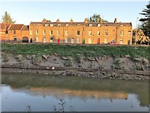TF4509 : Edes' Terrace on South Brink, Wisbech by Richard Humphrey