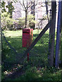 SN0215 : St John's Church, Slebech - now closed - with own letter box by welshbabe