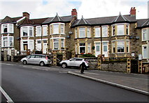 ST1599 : Wood Street houses, Bargoed by Jaggery