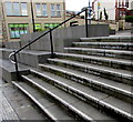 ST1599 : Steps up to the Miners' Heads public artwork, Hanbury Square, Bargoed by Jaggery