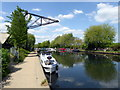 TQ3488 : Disused Crane on Lee Navigation by PAUL FARMER